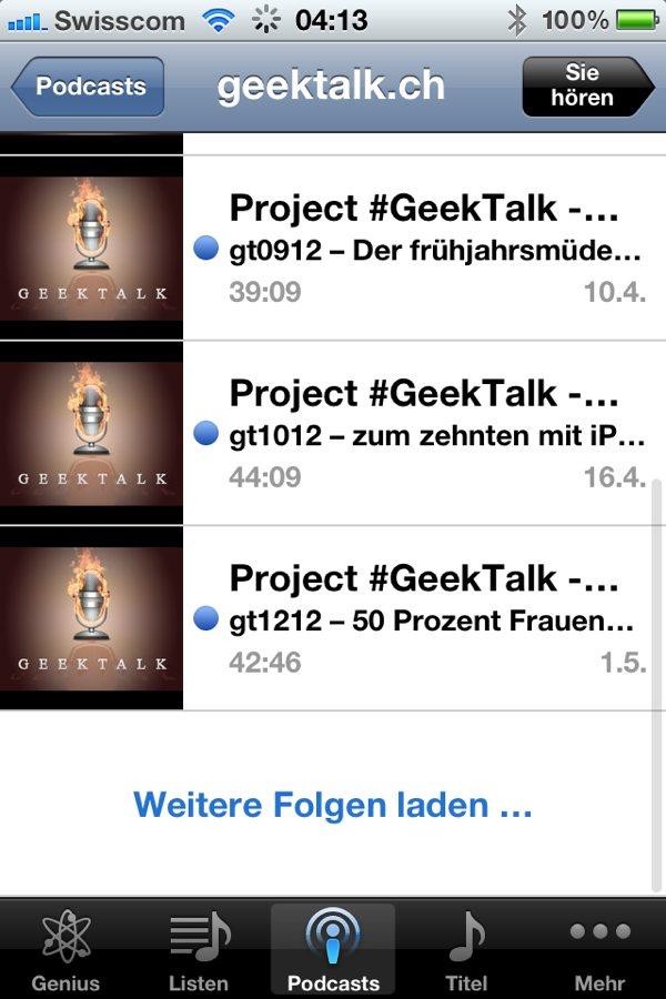 Podcast auf dem iOS auf dem iPhone und iPad abonnieren