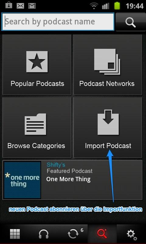 Podcast auf dem Android OS abonnieren
