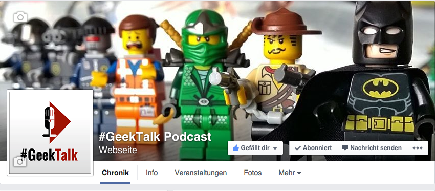 Facebook - Social Media Kanäle vom #GeekTalk Podcast