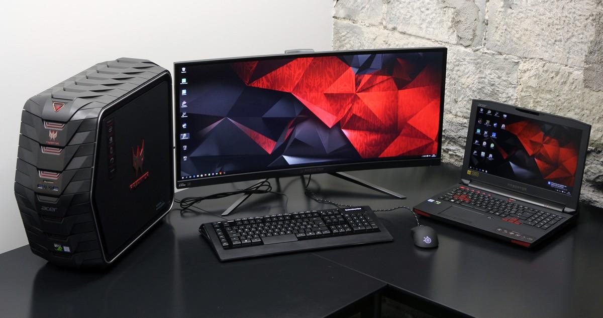 Acer Predator gaming Serie - Slider