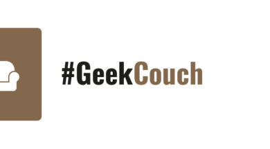 #GeekTalk #GeekCouch Label